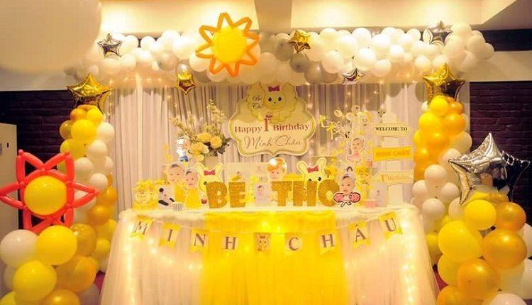 Gợi ý cách trang trí nhà hàng hoặc phòng tiệc sinh nhật